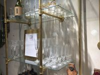 Gas Pipe Shelving Unit...paint gold and add glass shelves ...