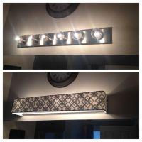 Custom lamp shades - Fabric - Light Covers - Bathroom ...