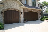 Carriage House Garage Doors Faux wood. French Country