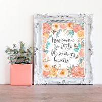 Little Girls Quote Print- Floral Baby Girl Decor- Boho ...