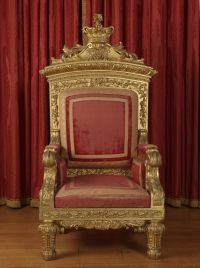 Queen Victoria's throne. Made for her coronation in 1837 ...