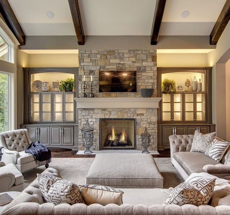Fireplace Living Room Decor Pinterest Fireplaces Built Ins