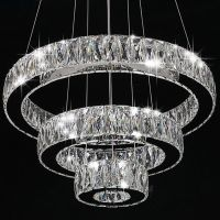 Modern Crystal Round Ring LED Pendant Lamp Ceiling Lights ...