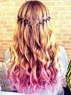 Dirty Blonde Hair With Pink Tips Google Search Fancy