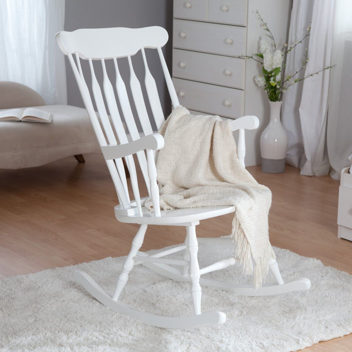 white wooden rocking chair canada commode over toilet kidkraft nursery rocker chairs at