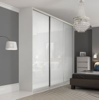 Premium Midi single panel sliding wardrobe doors in Pure