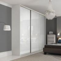Premium Midi single panel sliding wardrobe doors in Pure