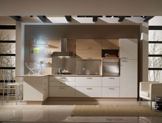 Cucina Bbianca e legno rovere sbiancato con una piccola isola Perfect  For the Home  Pinterest