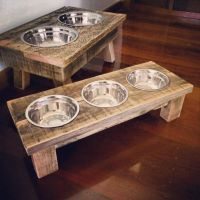 25 Excellent Woodworking Plans For Dog Dish Holder ...