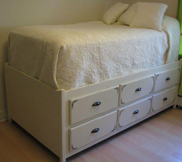 Reusing Dresser Bed Frame Perfect Storage