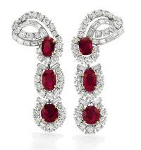 Long Ruby Diamond Earrings | www.imgkid.com - The Image ...