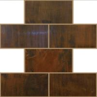 Antique Copper Tile Backsplash 3 x 6 Mosaic | Antique copper