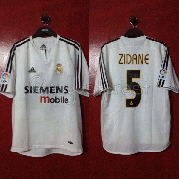 Real Madrid 2003-2004 Home Pi #5 Zidane