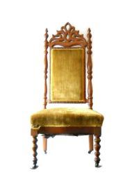 Victorian Revival Parlor Chair, Gentleman's High Back ...