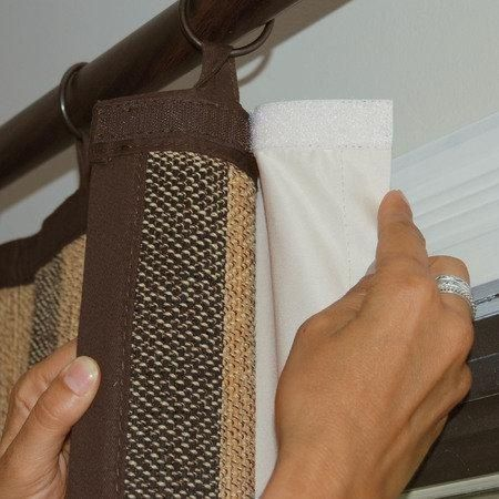 Use Velcro To Attach Your Own Black Out Lining To Your Curtain