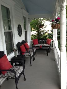 Black Wicker Front Porch - Spray Painted