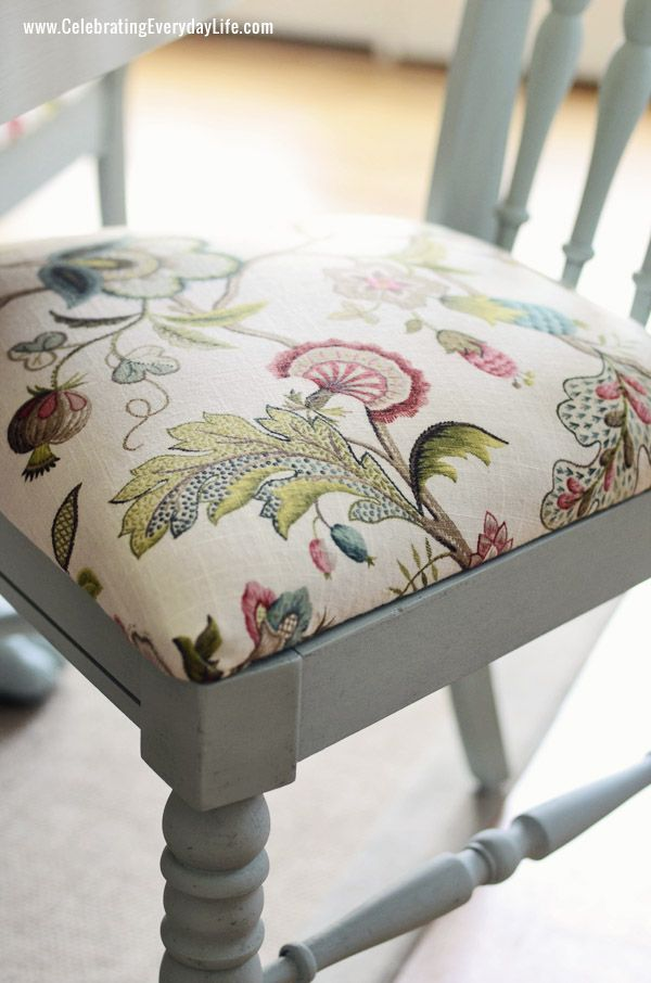 Recover Dining Chairs on Pinterest  Dining Chair Makeover