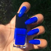 blue long nails 2. double team