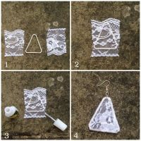 Guest Post - DIY Paper Clip Lace Earrings -   Lace ...