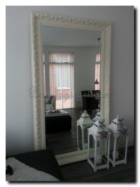 grote spiegel wit barok in woonkamer httpwww