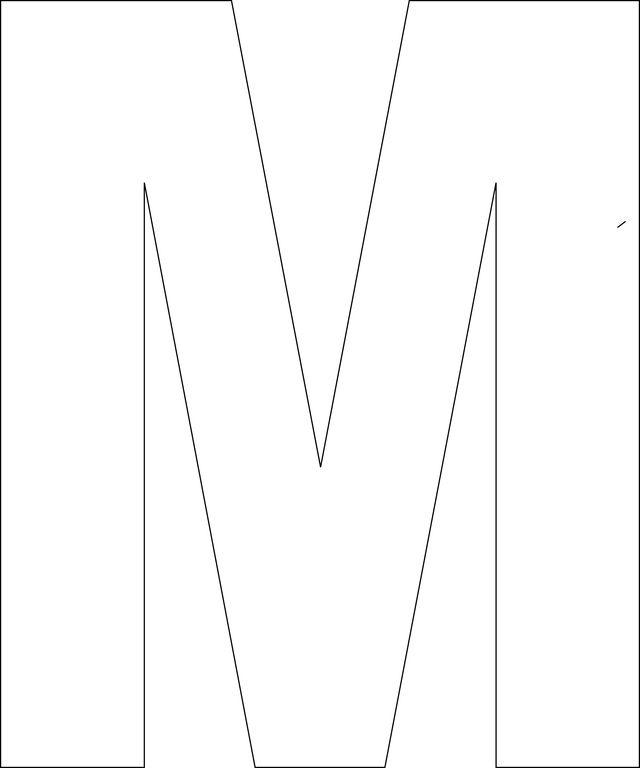 Free Printable Upper Case Alphabet Template
