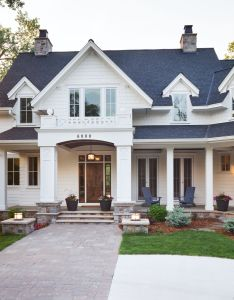love the outside look and feel of this home space land between also rh pinterest