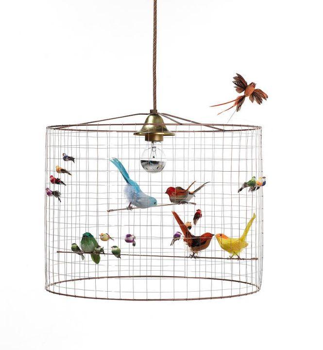 Copper Bird Cage Chandelier