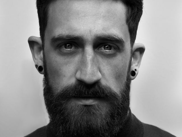 thomas marban groom beard model black and white photograph #beard