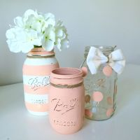 Baby Shower Mason Jar Decor. Baby Girl Shower. Baby Boy ...