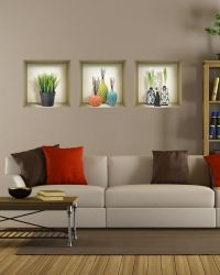 Peel and Stick Niche set Wall Decals for Bedroom Sticker ...