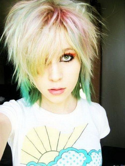 Funky Short Hair Emo Funky Short Hairstyles For Girls With