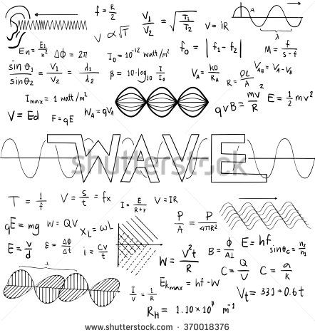 Wave physics science theory law and mathematical formula
