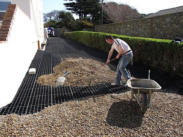 honeycomb gravel driveway - google
