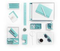 White with pops of Aqua is day at the beach! | Poppin ...