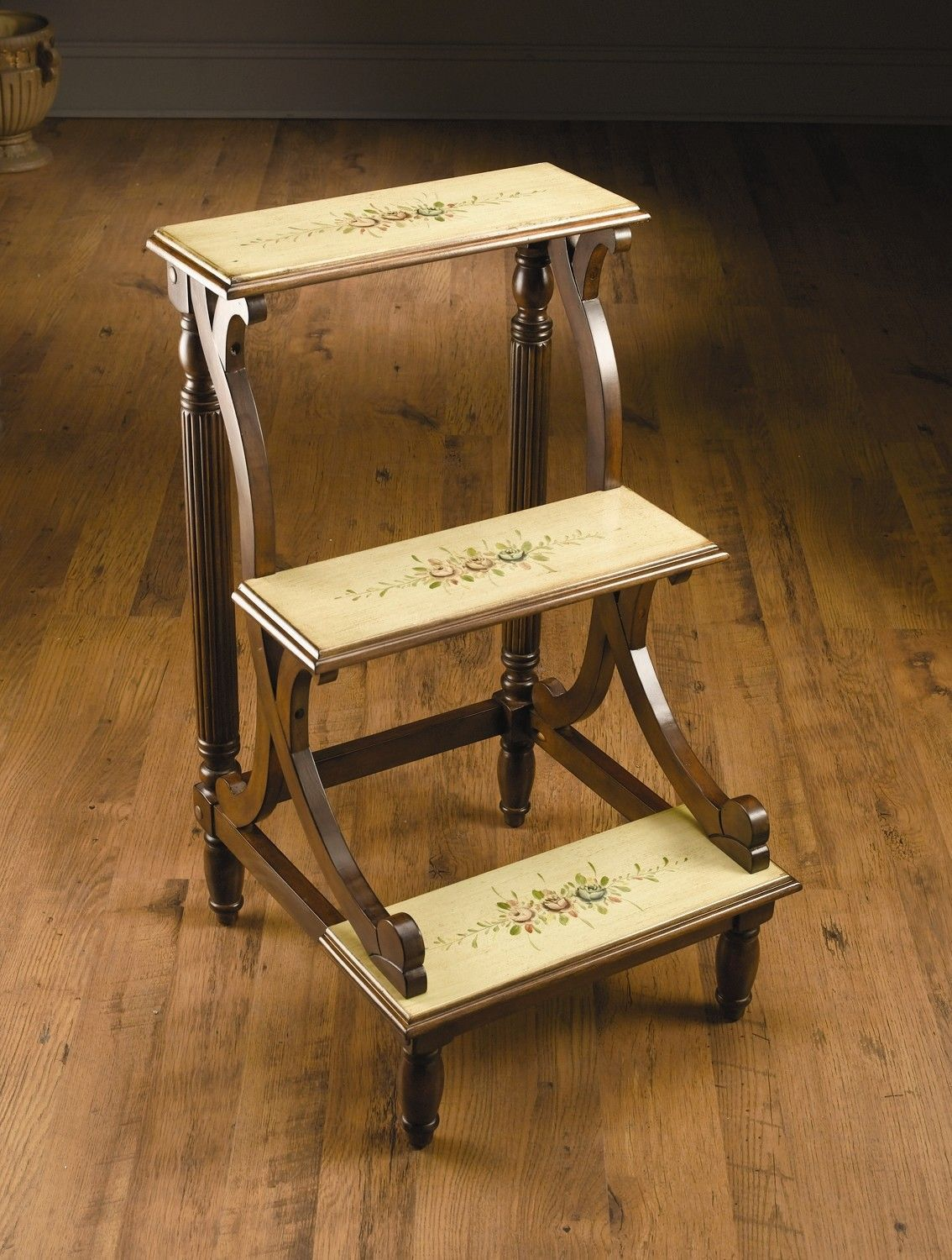 Library Ladder Chair 3 Step Wood Library Step Stool Library Steps Pinterest