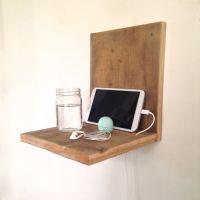 Wall-Mounted Nightstand // Reclaimed Wood Nightstand ...