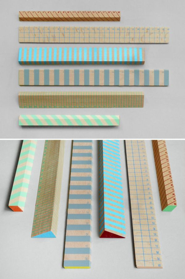 Striped Rulers Present & Correct Supplies