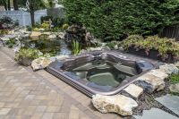 Above Ground Hot Tub Landscaping | Outdoor Hot Tub ...
