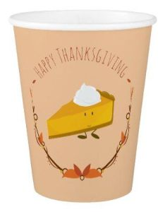Happy thanksgiving pie slice paper cups diy cyo personalize design idea new special also rh pinterest