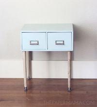 DIY-ify: Filing Cabinet Side Table | Diy organization ...