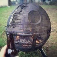 OMG hell yeah: Death Star fire pit | Camping | Pinterest ...