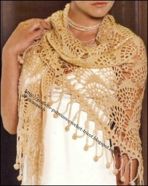 russian lace crochet scarf diagram guitar wiring 1 humbucker 2 single coil - ganchillo patrones graficos: chal tejido a | pinterest ...