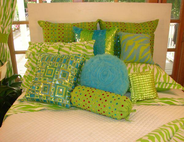Tween Teen Bedding Outrageous Lime Green Zebra
