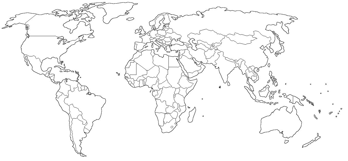 And Black White Map 1939 World