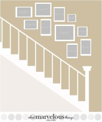 Picture Wall Layout for Stairs gallery wall ideas gallery ...