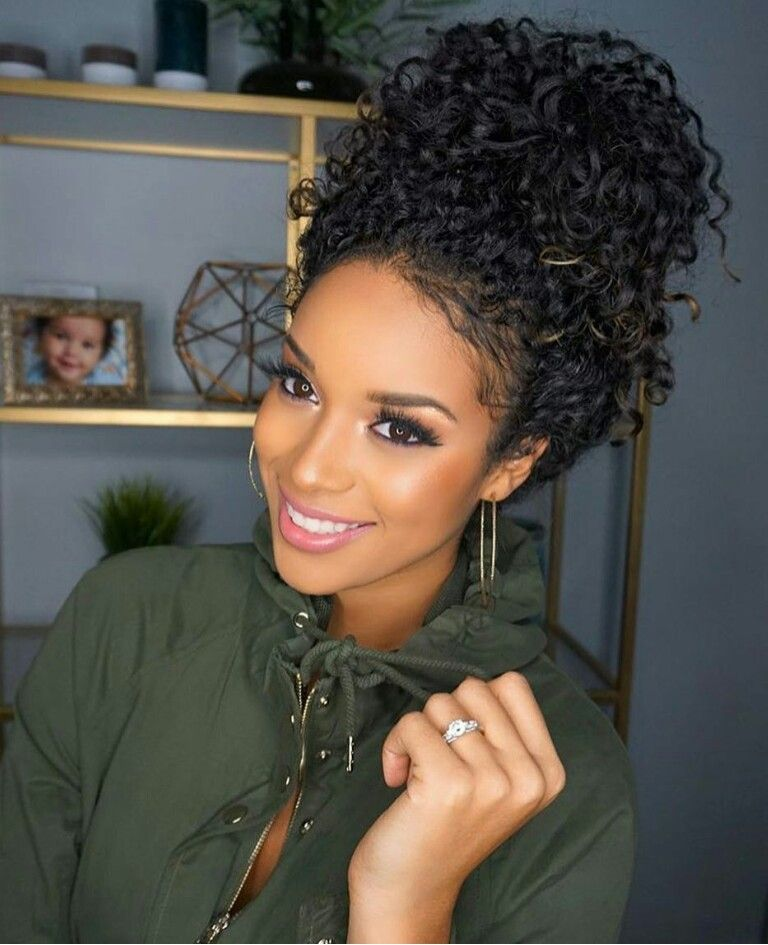 Curly Hairstyles Black Woman  hair  Pinterest  Curly