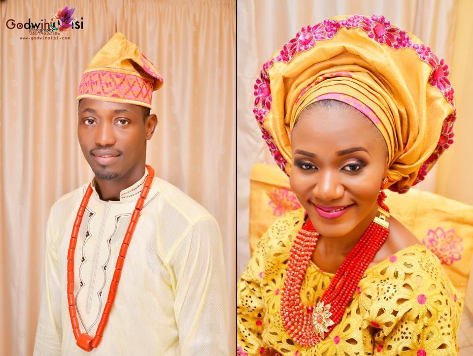 Nigerian wedding yoruba traditional engagement Debbie  George   BRIDE AND GROOM  Pinterest