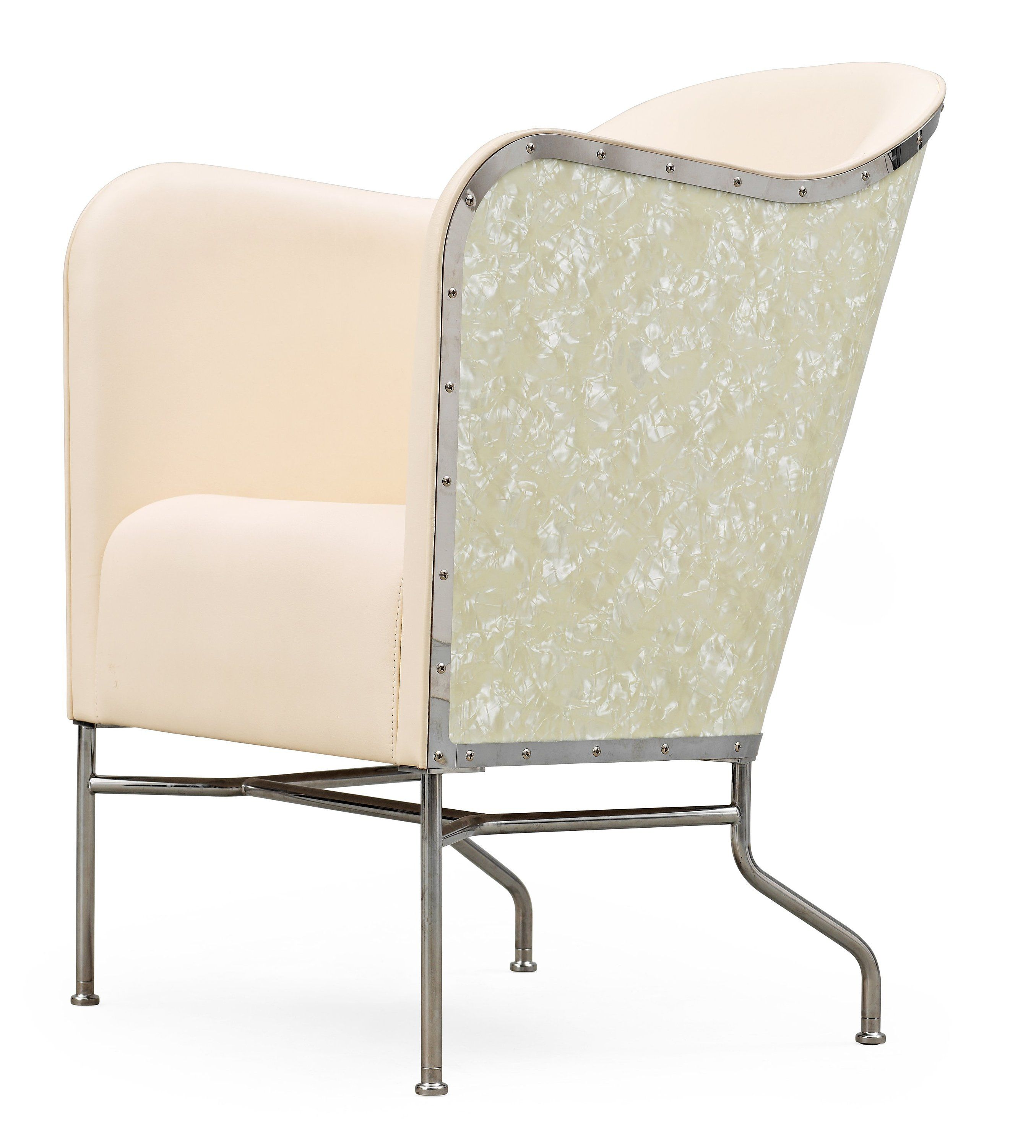 easy chair nadir steel chrome wedding covers west yorkshire a mats theselius chromed and white leather