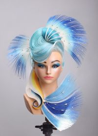Astounding! Fantasy hair competition hairstyle and hair ...