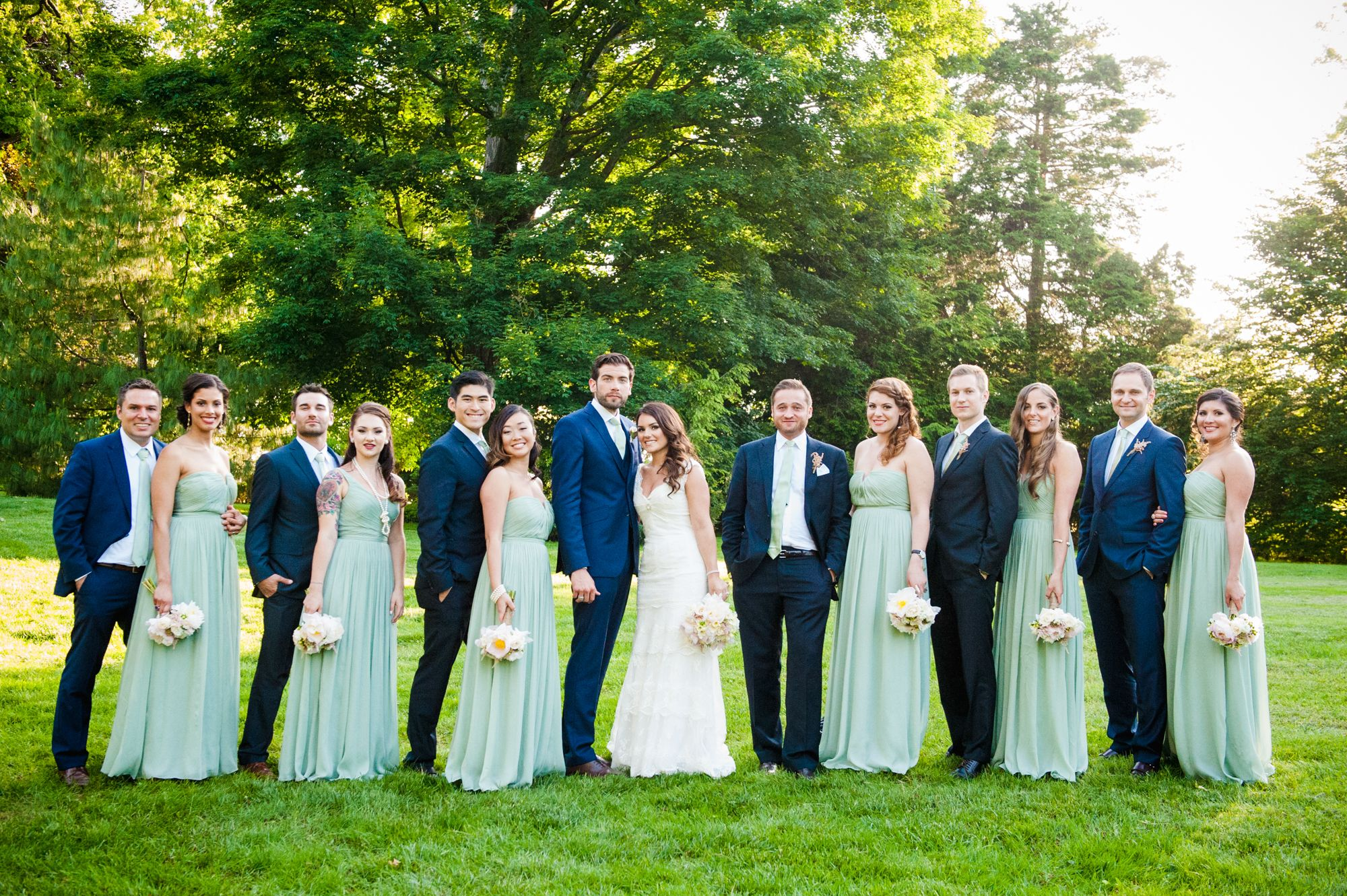 Navy and Mint Green Wedding Party  Wedding  Pinterest